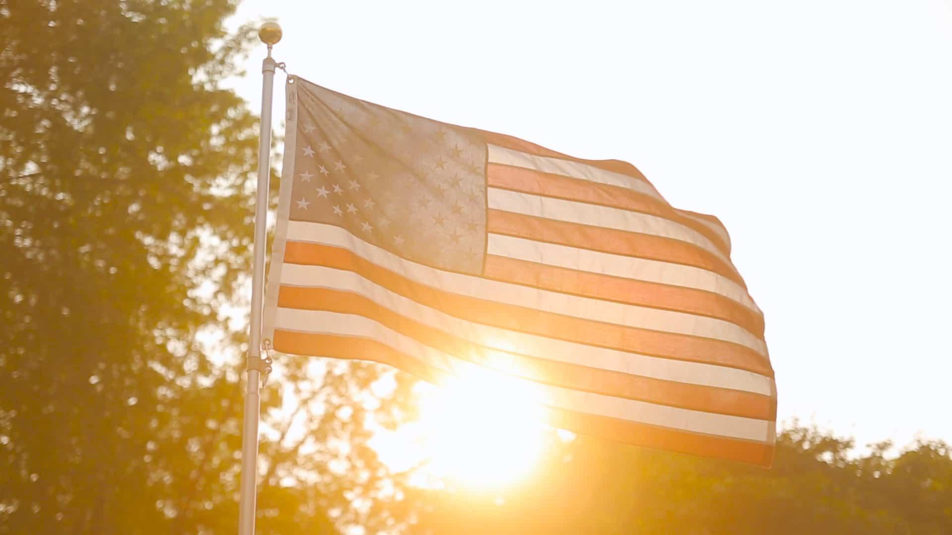 American Flag Lakeside