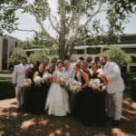 Bridal party in Keeneland paddock