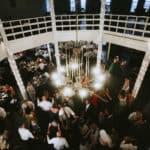 round barn reception dancing